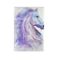Snow_horse_CPprint Rectangle Magnet