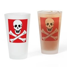 SkullBonesRed1 Drinking Glass