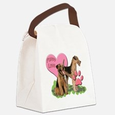 airedale_puppy_love Canvas Lunch Bag