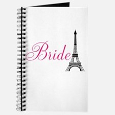 Bride Eiffel Tower Pink and Black Journal
