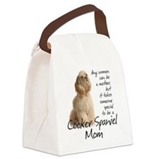 CockerMom#1Tile Canvas Lunch Bag