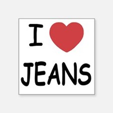"JEANS Square Sticker 3"" x 3"""