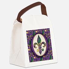 FleurMGbeads2JpPSq Canvas Lunch Bag