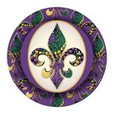 Mardi gras new orleans Round Car Magnets