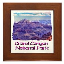 Sunset Grand Canyon Framed Tile