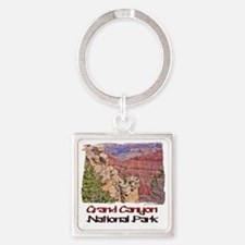 Grand Canyon Square Keychain