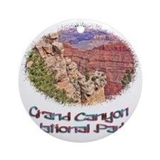 Grand Canyon Natl Park - South Rim Round Ornament