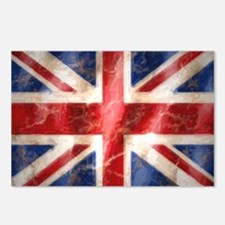 475 Union Jack Flag large Postcards (Package of 8)