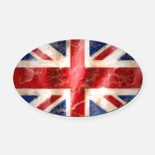 475 Union Jack Flag large Oval Car Magnet