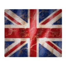 475 Union Jack Flag large Throw Blanket