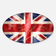 475 Union Jack Flag large Sticker (Oval)