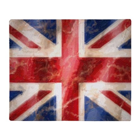 475 Union Jack Flag square and large Throw Blanket