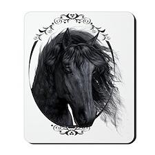 black_horse_freigestellt_gespiegelt Mousepad