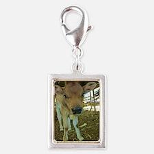 Dont have a cow! Silver Portrait Charm