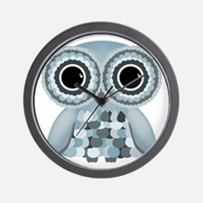 LittleBlueOwl Wall Clock