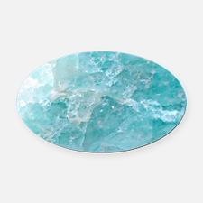 Blue-Agate-laptop-skin Oval Car Magnet