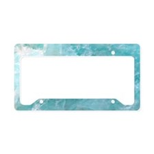 Blue-Agate-laptop-skin License Plate Holder