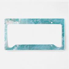 Blue-Agate-laptop-skin License Plate Holder