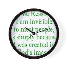gods image green Wall Clock