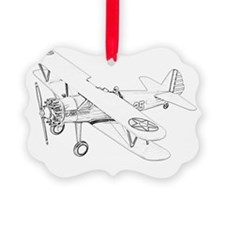 Stearman PT-17 Bi-Plane Picture Ornament