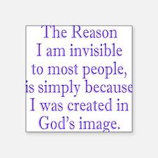 """gods image purple Square Sticker 3"""" x 3"""""""