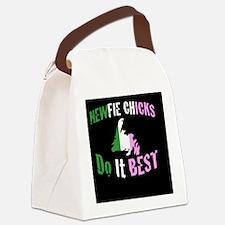 newfie chicks do it best Canvas Lunch Bag