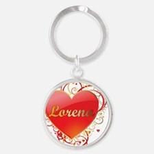 Lorena-Valentines Round Keychain