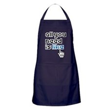 all-you-need-is-like-01a Apron (dark)