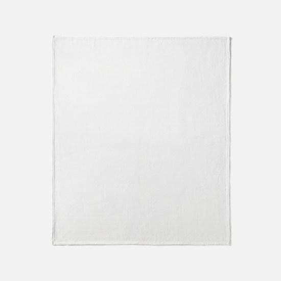 eyechart-01c-white Throw Blanket