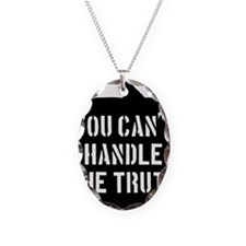 you-cant-handle-the-truth-01b- Necklace Oval Charm