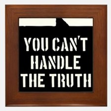 you-cant-handle-the-truth-01b-black Framed Tile