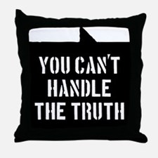 you-cant-handle-the-truth-01b-black Throw Pillow