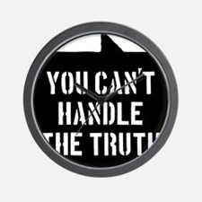 you-cant-handle-the-truth-01b-black Wall Clock