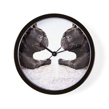 french bulldog flip flops Wall Clock