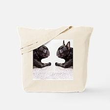 french bulldog flip flops Tote Bag