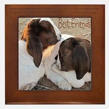 Best Friends! Framed Tile