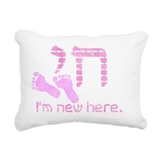 new_here_chai_pink Rectangular Canvas Pillow