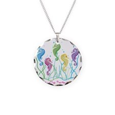 Dancing Seahorses Design Necklace