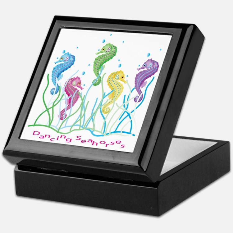 Dancing Seahorses Design Keepsake Box