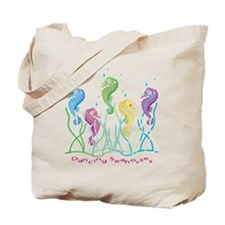 Dancing Seahorses Design Tote Bag