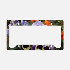 Multi colored Pansies License Plate Holder