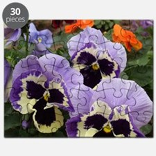 Multi colored Pansies Puzzle