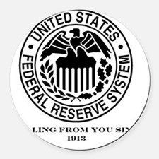 Federal Reserve Round Car Magnet
