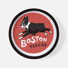 bostonredcircle Wall Clock