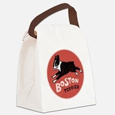 bostonredcirclehigher Canvas Lunch Bag