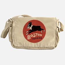 bostonredcirclehigher Messenger Bag