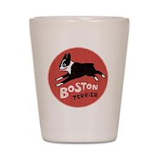 bostonredcirclehigher Shot Glass