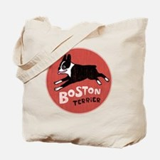 bostonredcirclehigher Tote Bag