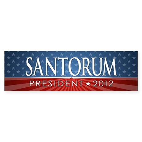 10x3_bumper_santorum_05 Sticker (Bumper)