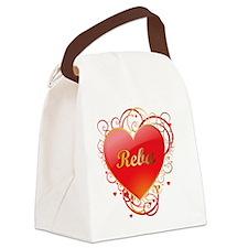 Reba-Valentines Canvas Lunch Bag